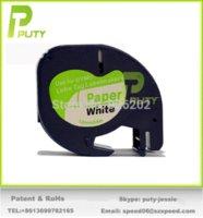 Wholesale Compatible DYMO letraTAG mm Black on White paper LetraTAG tape paper lanterns wedding reception paper a5