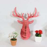 Wholesale Home accessories hanging wall wooden handicraft deer head