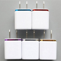 Wholesale AAA quality cellphone double USB charger dual ports plug wall charger power adapter fit for IPAD LG HTC Sumsung GIFT