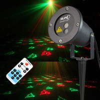 Wholesale Remote Landscape Laser Projector Light Red Green Patterns Christmas Outdoor Holiday Effect Xmas Tree Garden Projecteur Lights