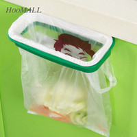 Wholesale Hoomall Brand Rubbish Bag Storage Rack Hanging Kitchen Cupboard Door Back Stand Trash Garbage Bags Storage Rack Bag Clip order lt no track