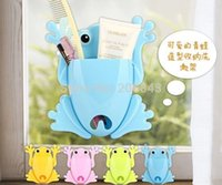 Wholesale 4PCS Cute Cartoon Frog Toothbrush Holder With Four Color