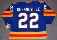 Wholesale Colorado Rockies Throwback Jersey Mens JOEL QUENNEVILLE Blue CCM Vintage Ice Hockey Jersey