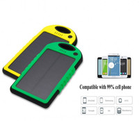 Wholesale 20000mAh universal USB Port Solar Power Bank Charger External Backup Battery With Retail Box DHL