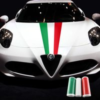 alfa flag - 1 three color for ALFA ROMEO Giulia Mito C Giulietta Spider GT Car Italy Italian Flag car body sticker