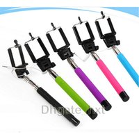Wholesale Z07 S camera selfie stick monopod cable and for take pictures for iphone samsung android system mobile with colors