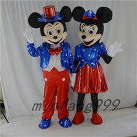 Wholesale New Star Mickey mouse Minne mouse Black Mouse Easter Mascot Costume on sale Christmas clothes Halloween Party Adult Suit