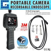 Wholesale VID R M M Cable mm Camera Recordable Video Inspection quot HD Endoscope Snake Scope Industrial Borescope LED Pipe Car Engine Scopes