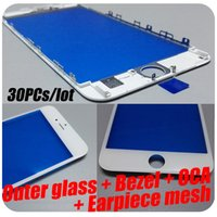 Wholesale 2016 Outer Glass With Digitizer Frame Bezel For iPhone S Plus LCD Screen Glass Lens OCA Earpiece Mesh