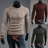 bamboo brand flats - Mens Sweaters Button Cardigan Brand Clothing Man s Knitwear Male Sweater Cotton Wool Blended Sweater Winter Asymmetric Button Sweaters