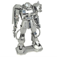adult learning games - D Metal Puzzle D Metal Model Robot Jigsaw Puzzle Games Stainless Steel Learning Educational Kids Toys for Children Adults