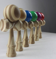 18.5*6cm adult outdoor toys - high quality kendama DHL Bamboo kendama ball can degrade Outdoor sport Adult educational Boutique game toy