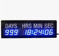 Wholesale Blue LED Countdown Clock In Days Hours Minutes Seconds Every Hours For Gift Office