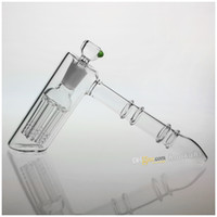 Wholesale New CM Arm Two Functions Glass Hammer Percolator Bubbler Water Pipe Glass Smoking Pipes Tobacco Pipe Bong With MM Joint