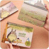 Wholesale 4 Totoro Weekly planners Cute week agenda notebook Journal organizer office School supply material escolar