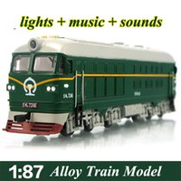 Wholesale alloy train electric railway train car model toys with lights children indoor flashing train diecast cars in high quality