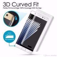 Wholesale 3D Curved Full Cover Front Screen Protector Soft Clear PET LCD Film Guard For Samsung Galaxy S7 edge S6 Edge Plus MOTO XPLAY MOQ