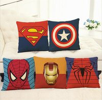 america core - Captain America Hold pillow cartoon linen Hold pillow Iron man spider man beautiful household Furnishing articles not contain Pillow core