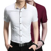 Wholesale 2016 new summer men s Short Sleeve Shirt Mens pure Korean leisure slim shirt