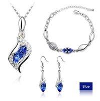 asian fashion shoes - 2016 New Arrival Fashion Austria Zircon Crystal Necklace Earrings Bracelet Jewelry sets Diamond Shoe jewelry Sets
