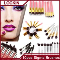 Wholesale Brand Cosmetic Facial Make UP Brush Tools Makeup Brushes Set Kit With Retail Box White Black Pink Wood Handle AND Nylon Hair