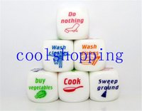 Wholesale Family Game Housework Decider x25mm Lovely Distribution Funny Dice Set Couples Lovers Household Duties Dice