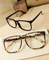 Wholesale non mainstream vintage leopard print large black plain eyeglasses frame rubric for eyes box leopard print size qzbt f7