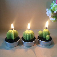artificial flame - Artificial Cactus Green Plants Decoration Birthday Candles Wedding Home Decor Decro