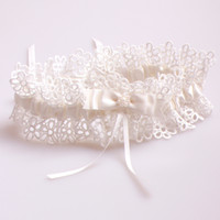 Wholesale Sexy Ivory Lace Flower Wedding Leg Garter Ivory Bowknot Bridal Accessories Garters