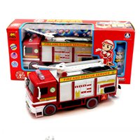 automatic blowing machine - Bubble car fire engine model universal automatic blowing bubble machine light music vehicle model toy Diecast Metal gift for boy