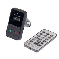Wholesale Hands Free Wireless Bluetooth FM Transmitter Modulator Car Kit MP3 Player SD USB LCD Remote Controll Car Music Player