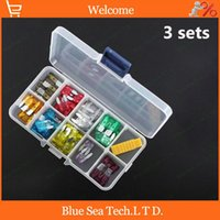 Wholesale sets S stores A A Small amp Medium type Auto fuse Kit with transparent box car fuses sets for Audi BMW Benz VW etc
