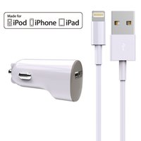 Wholesale HXINH Apple MFi Certified A USB Car Charger Combo with Lightning to USB Cable for iPhone iPad
