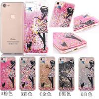 apple feeds - Glitter case Feeding bird Flower Girl printed Star Quicksand Liquid Phone Back cover For Iphone plus cellphone case