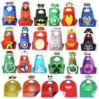 fairy - PrettyBaby designs children superhero supergirl batman captain america robin transformer cape and mask sets children christmas gifts
