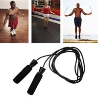 Wholesale Aerobic Exercise Boxing Skipping Jump Rope Adjustable Bearing Speed Fitness Black