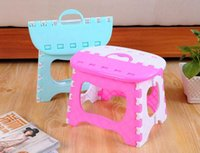Wholesale Home Bathroom Cute Small Plastic Stool Child Safety and Adult Outdoors Portable Folding Stool Fishing and Picnic Stool