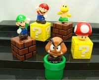 mario figures - Free DHL Mini Cute Figures cm Super Mario Bros Figurine PVC Toy Doll For Kids Christmas Gift