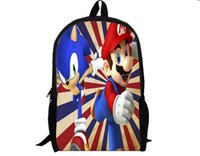 Wholesale Super Mario Backpack Cartoon and durable used for all different ages HD Printed for students college style