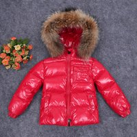 Wholesale New style winter children s clothing down winter jacket winter raccoon purpa for boys gilrs