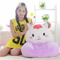 big green sofa - 2016 plush cat children s sofa toy big face animal cat green pink red soft chair cushion for child