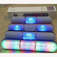 Wholesale 2015 New Pulse Pills Led Flash Lighting JHW V318 Portable Wireless Bluetooth Speaker Bulit in Mic Handsfree speakers Support FM USB Free DHL