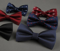 Wholesale Fashion New Unisex Neck Bowtie Bow Tie Adjustable Bow Tie High Quality Metal Adjustment Buckles Multi style Jacquard Bow Tie