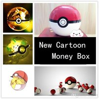 animated piggy - Pre sell New animated cartoon peripheral pocket eyes strangel ceramic piggy bank lovely pikachu money box B0516