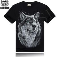 Cheap Rocksir 2015 3D Printer Wolfs Slayer AC DC Guitara T Shirt Heavy Metal Rock T-Shirt lacote Men Tshirt Homme Black Tee