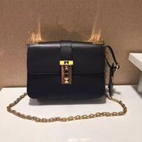 animals have fur - high quality w339 genuine leather stud shoulder chain handbag cm fashion women must have