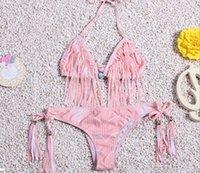 apart fashion - Fashion Women s Apart Fringe Swimwear Bikini Halter Padded Push Up Bathing Suit Top Bottom Swimsuit Bathing Suit Swimming Beachwear