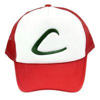 Wholesale Anime Cosplay Pikachu Poke Pocket Monster Ash Ketchum Baseball Trainer Cap Hat Gift