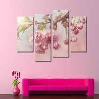 art piece gallery - 4 Pieces Art Gallery Painting Pink Peonies Picture Print On Canvas Flower The Picture Decor Oil For living room Decoration