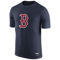 authentic apparel - New Men MLB Boston Red Sox Baseball T shirts Fanatics Apparel Platinum Collection Tri Blend Banner Wave Authentic Collection Short sleeves